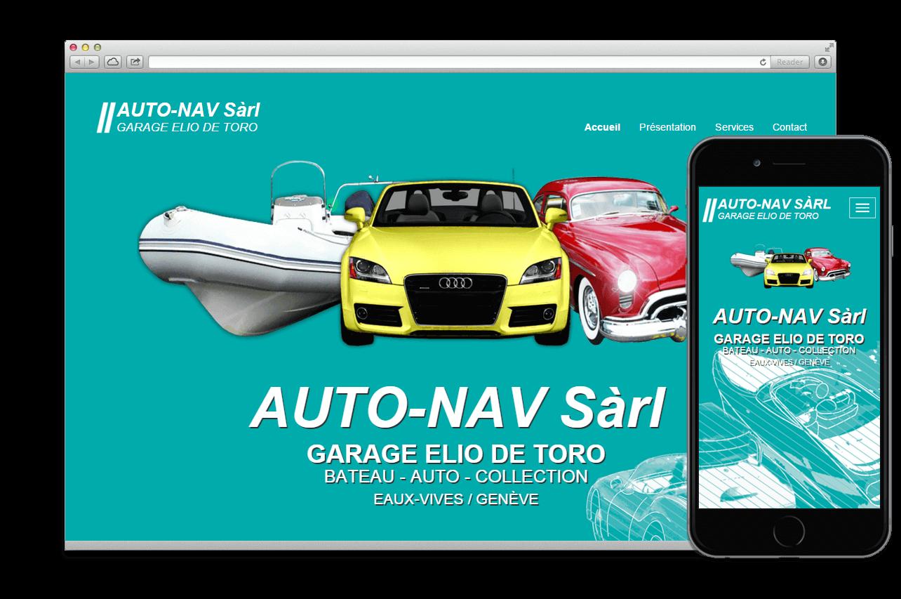 Création site web:  AUTO-NAV SÀRL
