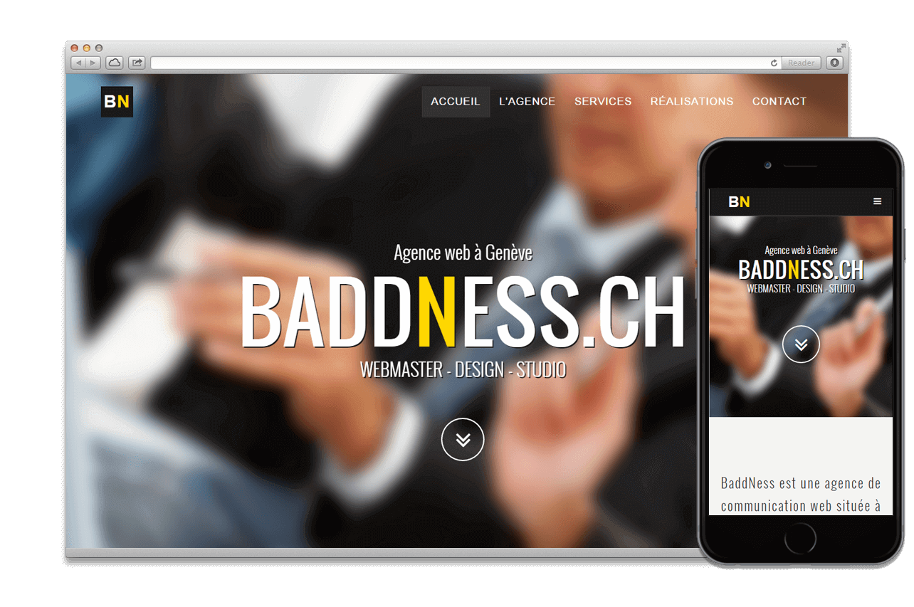Création Application:  BADDNESS.CH