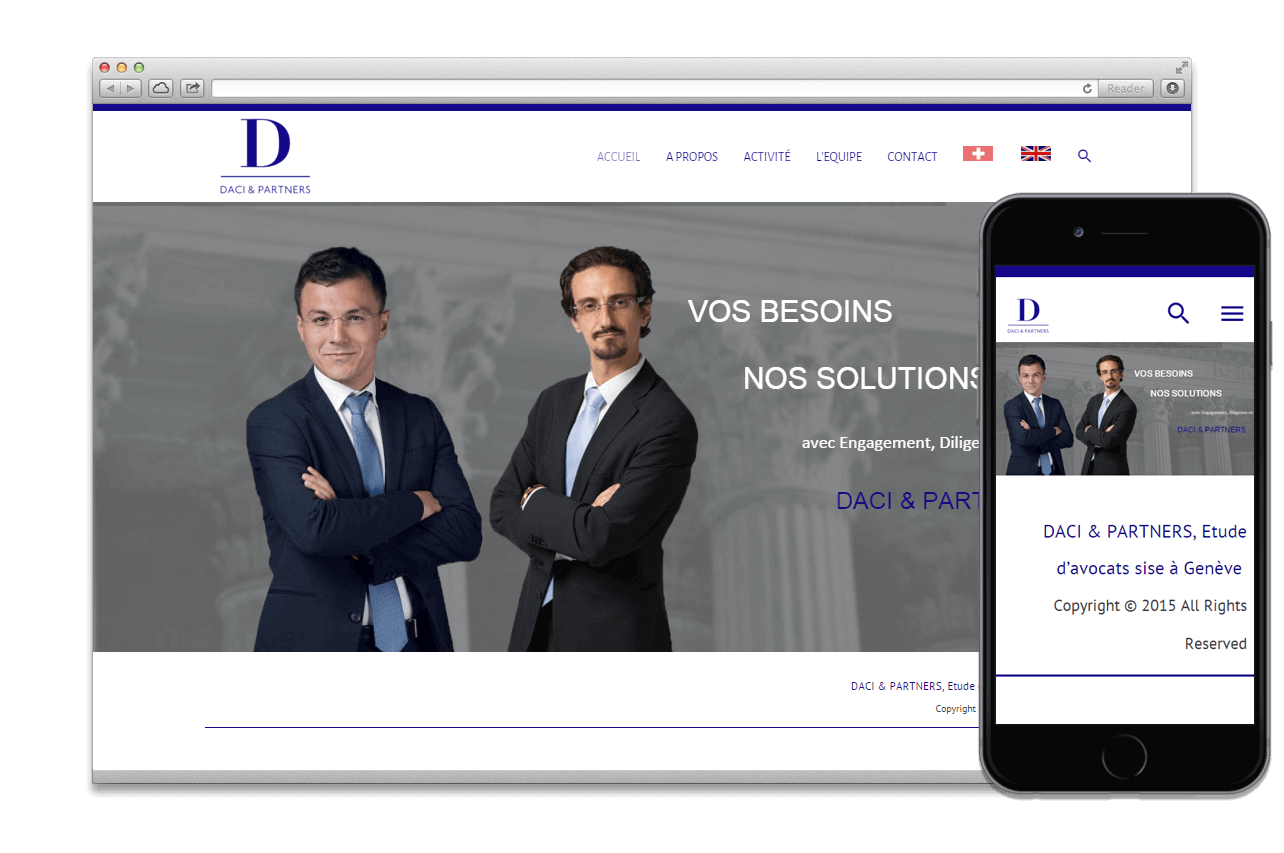 Mise à jour Wordpress:  DACI PARTNERS