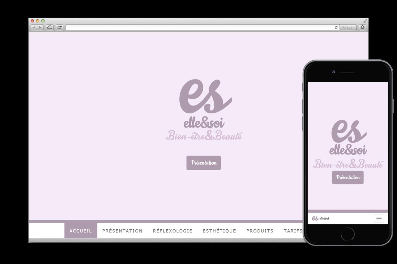 Création site web:  ELLE & SOI