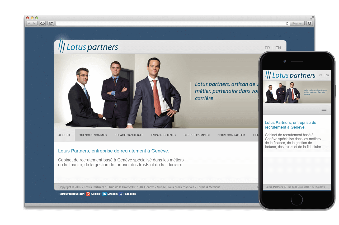 Mise à jour site web:  LOTUS PARTNERS