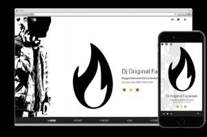 Création site web:  DJ ORIGINAL FAYAMAN