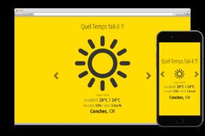Création Application:  API QUEL TEMPS FAIT-IL?