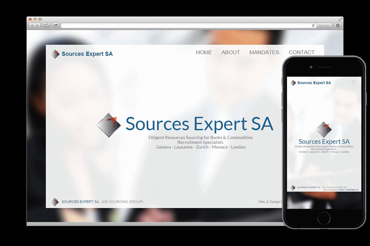 Création site web:  SOURCES EXPERT S.A.