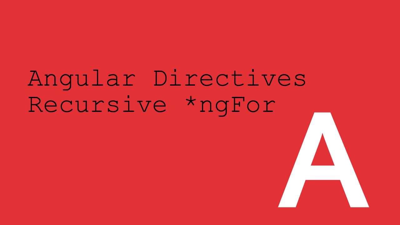 recursive ngfor